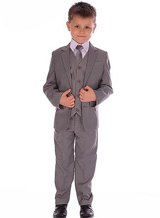Los juegos de gris claro Equipada Traje Pageboy formal de la boda ...