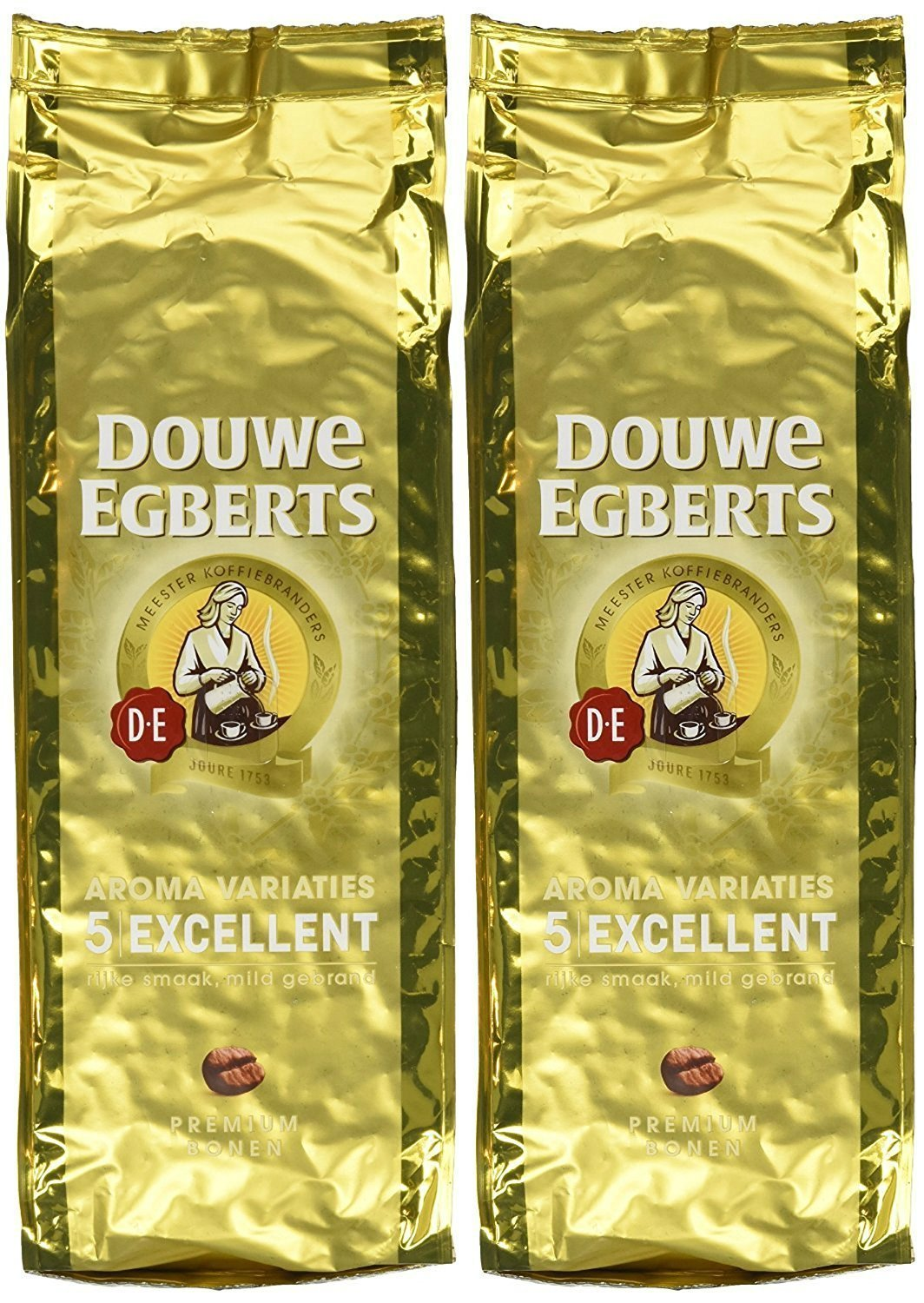 Douwe Egberts Excellent Aroma Whole Bean Coffee 17.6 Oz (Pack of 2)