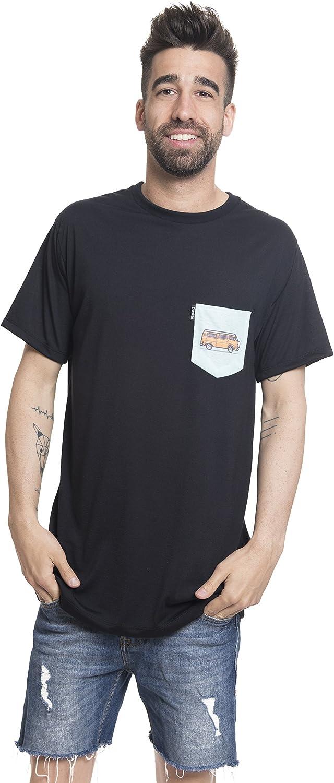 Camiseta Manga Corta serigrafia Bolsillo Marino-Furgo. (M): Amazon.es: Ropa y accesorios