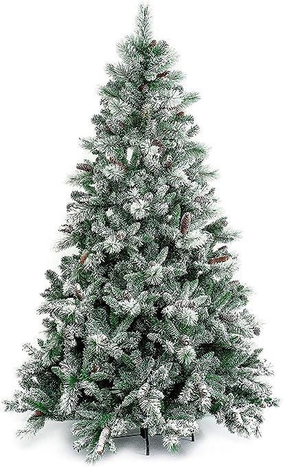 Alberi Di Natale Xone.Xone Albero Di Natale Gardena Innevato 210 Cm Con Pigne Amazon It Casa E Cucina