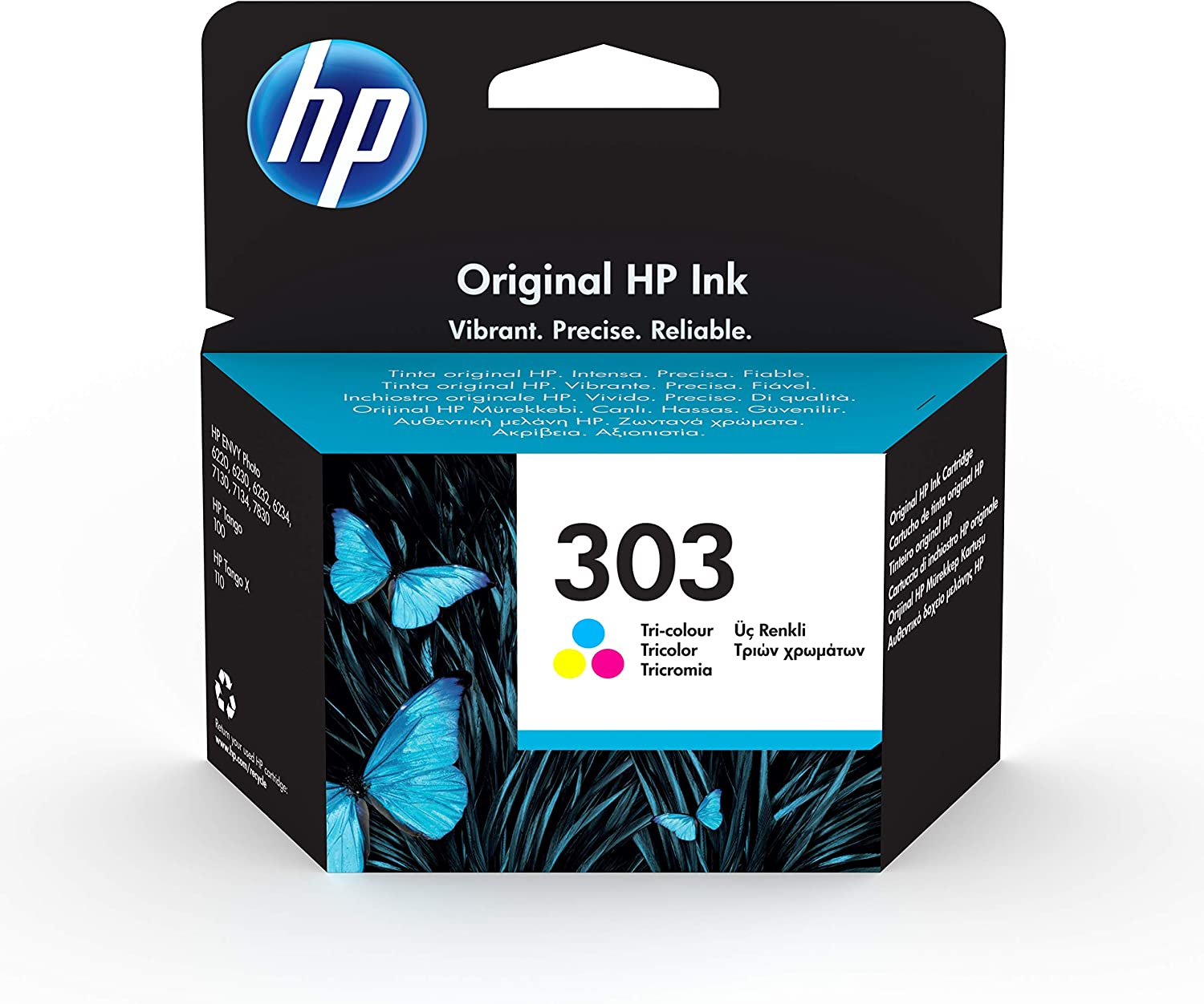 HP 303 T6N01AE - Cartucho de tinta iriginal tricolor, compatible ...