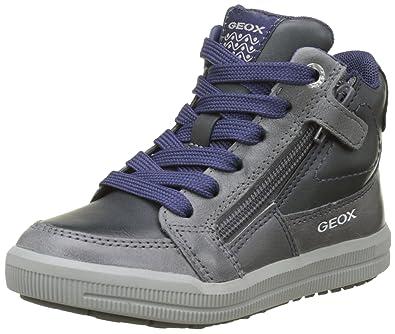 Geox J Alonisso C, Sneaker a Collo Alto Bambino Grigio (Dk