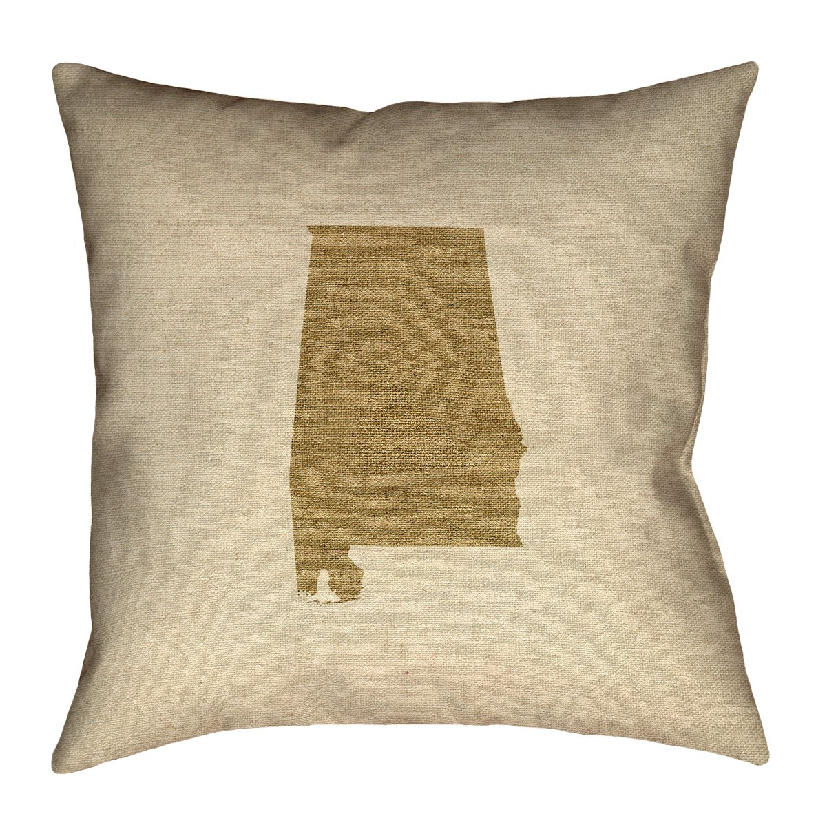 ArtVerse Katelyn Smith 14 x 14 Poly Twill Double Sided Print with Concealed Zipper /& Insert Alabama Canvas Pillow