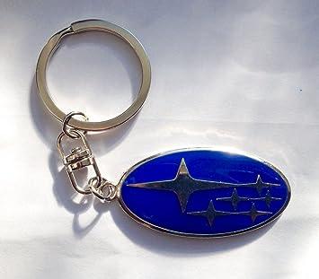 subar Suba logotipo llavero Impreza WRX STI Legacy Forester azul cromo estrellas