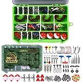 246/329pcs Fishing Accessories Equipment Kit Including Sinker Bullet Weights,Fishing Swivels Snap,Sinker Slides,Jig Hook,Fish