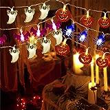 V-TECHOLOGY Halloween String Light ,7.5Ft Pumpkin Light Bat Ghost Spider String Decorations Lights String with 20 LED…