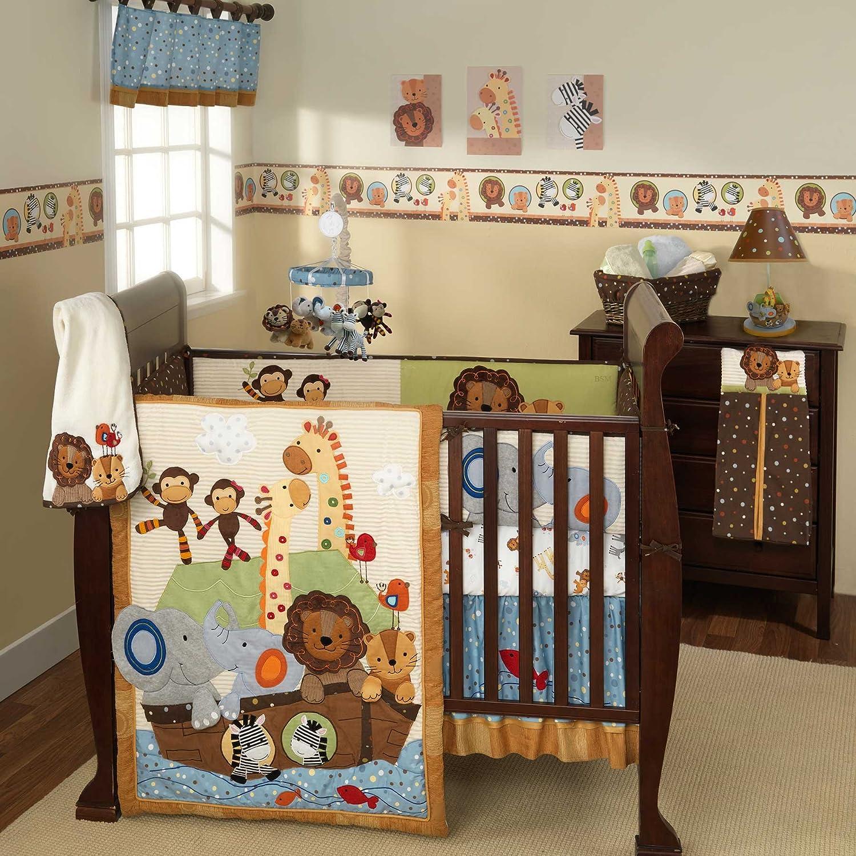 Baby cribs bedding sets - Lambs Ivy S S Noah Ark 5 Piece Nursery Baby Crib Bedding Set 519005v