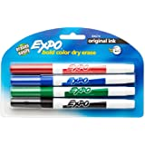 EXPO Original Dry Erase Markers, Fine Point,  Assorted Colors, 4-Count
