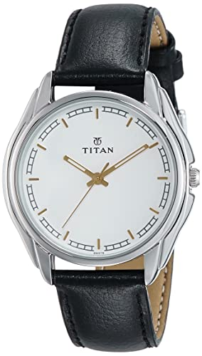 85414aa5d Image Unavailable. Image not available for. Colour  Titan Analog White Dial  Men s Watch-NK1578SL06