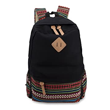 Winkine Lightweight Canvas Laptop Backpack - Travel College Bookbags Daypack   Amazon.co.uk  Office Products 3e46b855b87a3