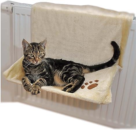 Hamaca para gatos, para colgar en el radiador, color beige y marrón: Amazon.es: Productos para mascotas