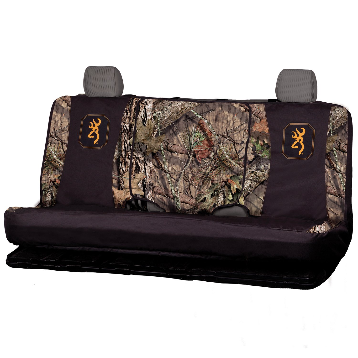 Black//Country Bench-Seat Cover with Fold-Down Center Console Access Water Resistant 600D Polyester Mossy Oak Camo Bench Seat Cover Full Size