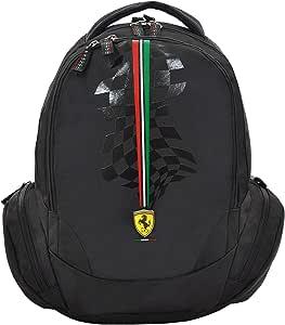 """Ferrari Silver Horse Black Backpack 18"""" Bp, For Boys"""