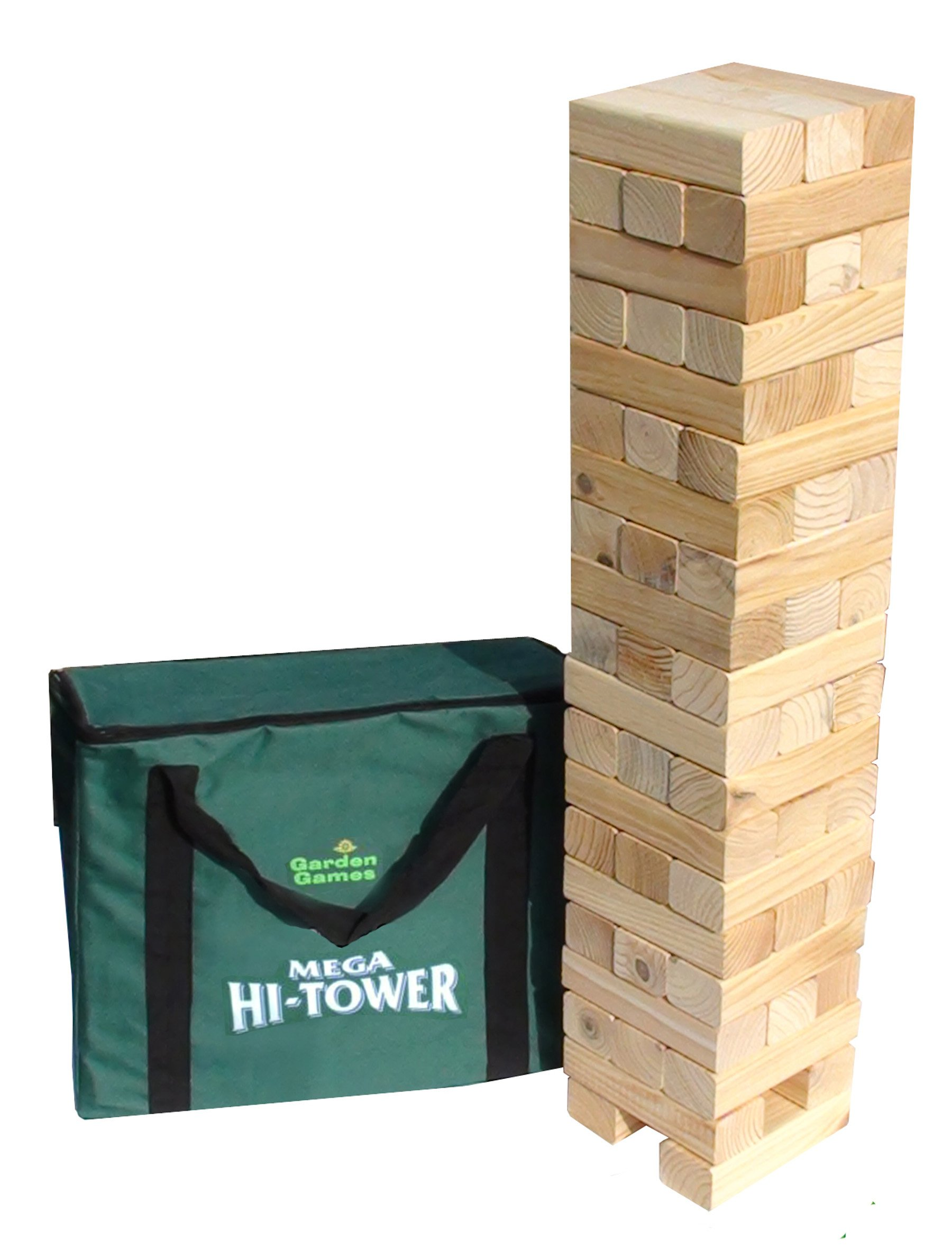 Mega Hi-Tower - Extra Tall Tumble Blocks Up to 6ft During Play (Includes Carry Bag)