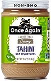 Once Again Organic Sesame Tahini - Salt Free, Unsweetened - 16 oz Jar