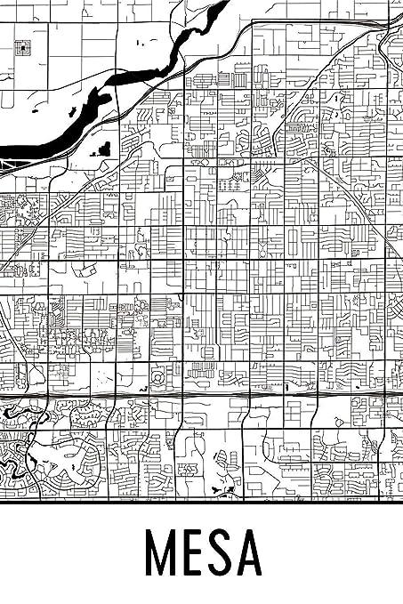 Amazon.com: Mesa Print, Mesa Art, Mesa Map, Mesa Arizona, Mesa ...