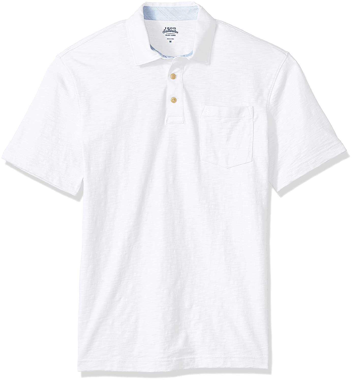 Izod Mens Saltwater Chest Pocket Slub Polo At Amazon Mens Clothing