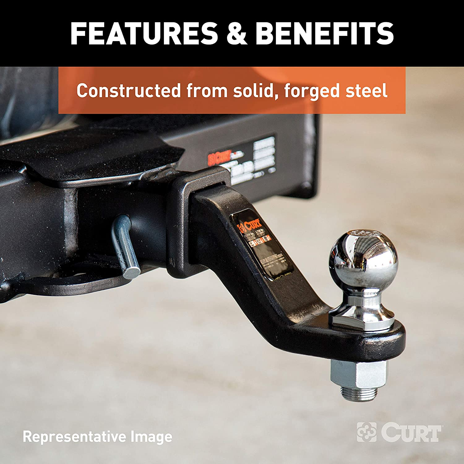 CURT 45342 Forged Ball Mount