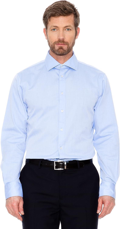 Cortefiel Camisa Canutillo Azul M: Amazon.es: Ropa y accesorios