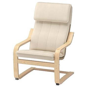 IKEA POANG Childrens Armchair, Birch Veneer, Almas Green