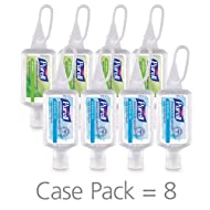 PURELL Advanced Hand Sanitizer Variety Pack, Naturals and Refreshing Gel, 1 fl oz portable flip-cap bottle with JELLY WRAP Carrier (Pack of 8) - 3900-09-ECSC