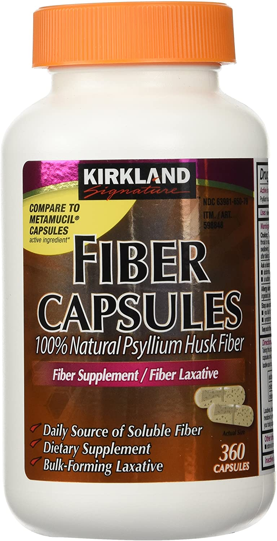 Kirkland Signature Kirkland Fiber Capsules, 2 Pack (360 Capsules Each): Health & Personal Care