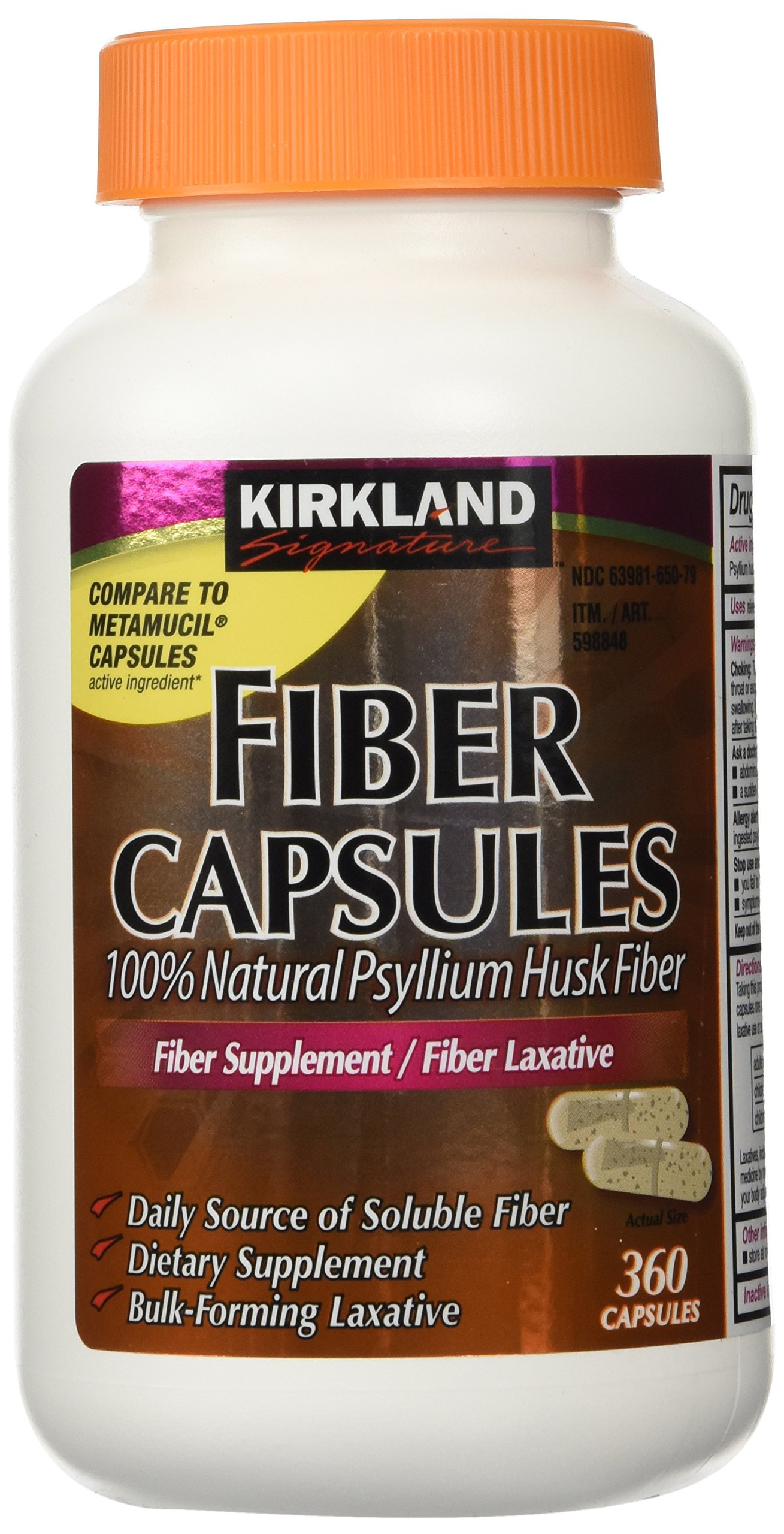 Amazon Com Kirkland Signature Natural Psyllium Fiber 36