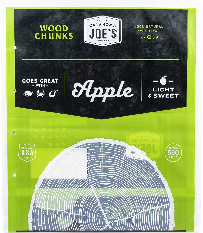 Oklahoma Joe's Wood Smoker Chunks, 8 lb, Apple