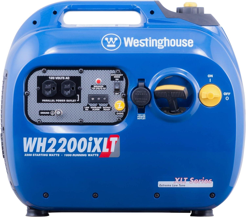 Westinghouse WH2200iXLT Super Quiet Portable Inverter Generator 1800 Rated & 2200 Peak Watts, Gas Powered : Garden & Outdoor