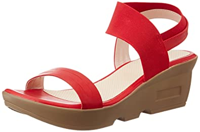 Lavie Women's Red Fashion Sandals - 4UK/India (37 EU) Fashion Sandals at amazon