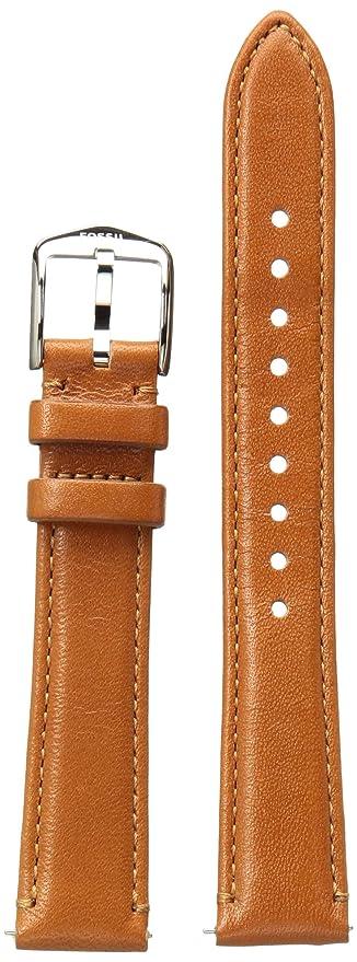 d5d2c11da Amazon.com: Fossil S161038 16mm Leather Calfskin Brown Watch Strap ...