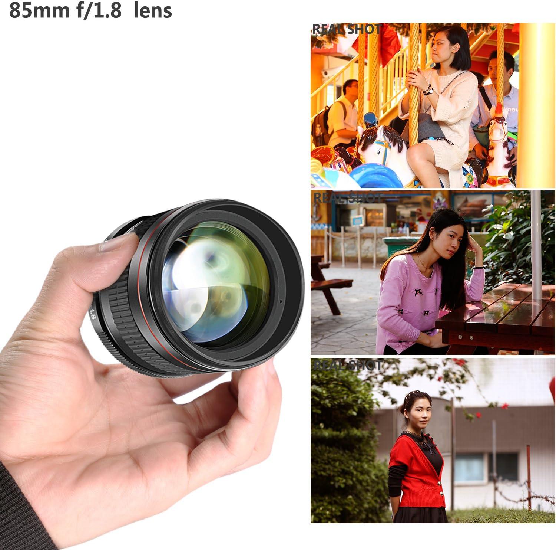 Manual Focus HD Glass Neewer 85mm f//1.8 Portrait Aspherical Telephoto Lens for Nikon D5 D4S DF D4 D810 D800 D750 D610 D600 D500 D7200 D7100 D7000 D5500 D5300 D5200 D5100 D3400 and D3100 DSLR Cameras