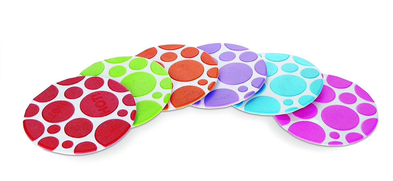 Munchkin 011196 Tappetini Antiscivolo per Bagno Termosensibili con Ventosa, Multicolore 14328