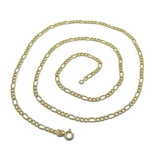d937ba33acf3 Cadena de Oro Amarillo de 18k para Hombre Modelo 3x1 de 60cm de Larga y 3mm  de Ancha  Amazon.es  Joyería
