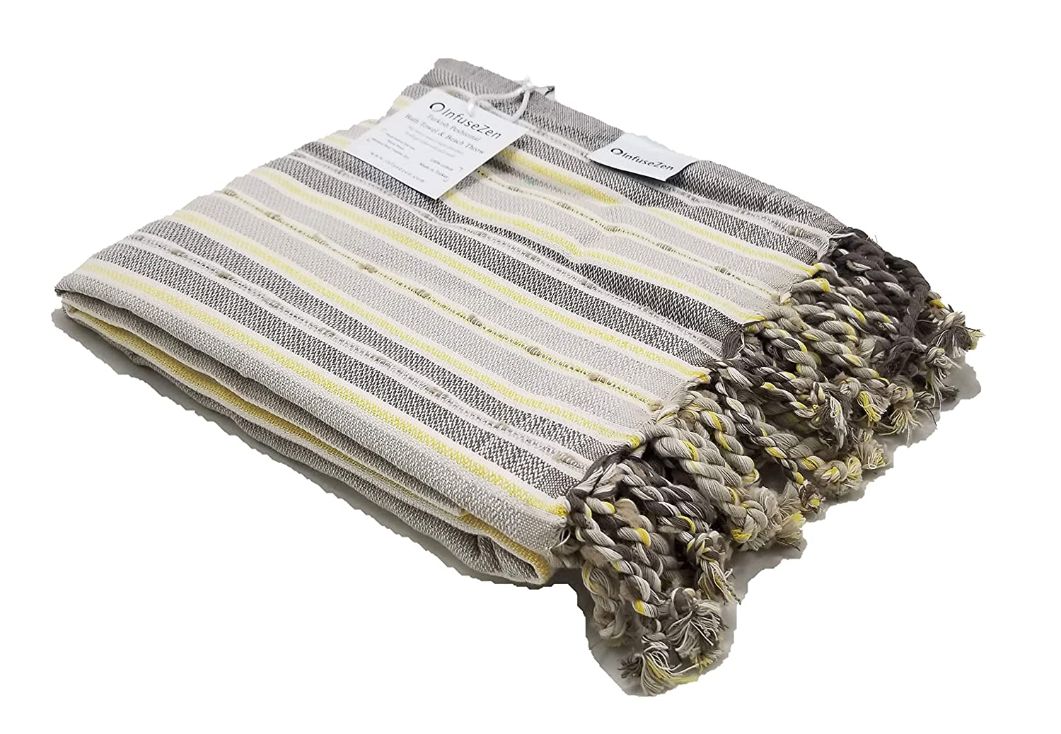 InfuseZen Oversized Turkish Peshtemal Bath Towel in Modern Stripes Pool Towel or Beach Throw Extra Large Turkish Towel Thin and Absorbant Bath Sheet 100/% Cotton Fouta Towel Special Edition Mint