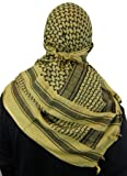 Maddog Sports Shemagh Tactical Desert Scarf - Tan / Black