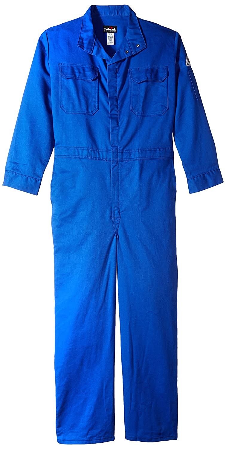 Bulwark Flame Resistant 7 oz Cotton//Nylon Excel FR ComforTouch Premium Coverall with Concealed Snap Closure On Sleeve Cuff