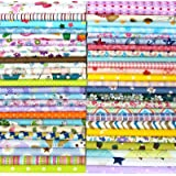 "Misscrafts 50pcs 8"" x 8"" (20cm x 20cm) Top Cotton Craft Fabric Bundle Squares Patchwork DIY Sewing Scrapbooking Quilting Dot"