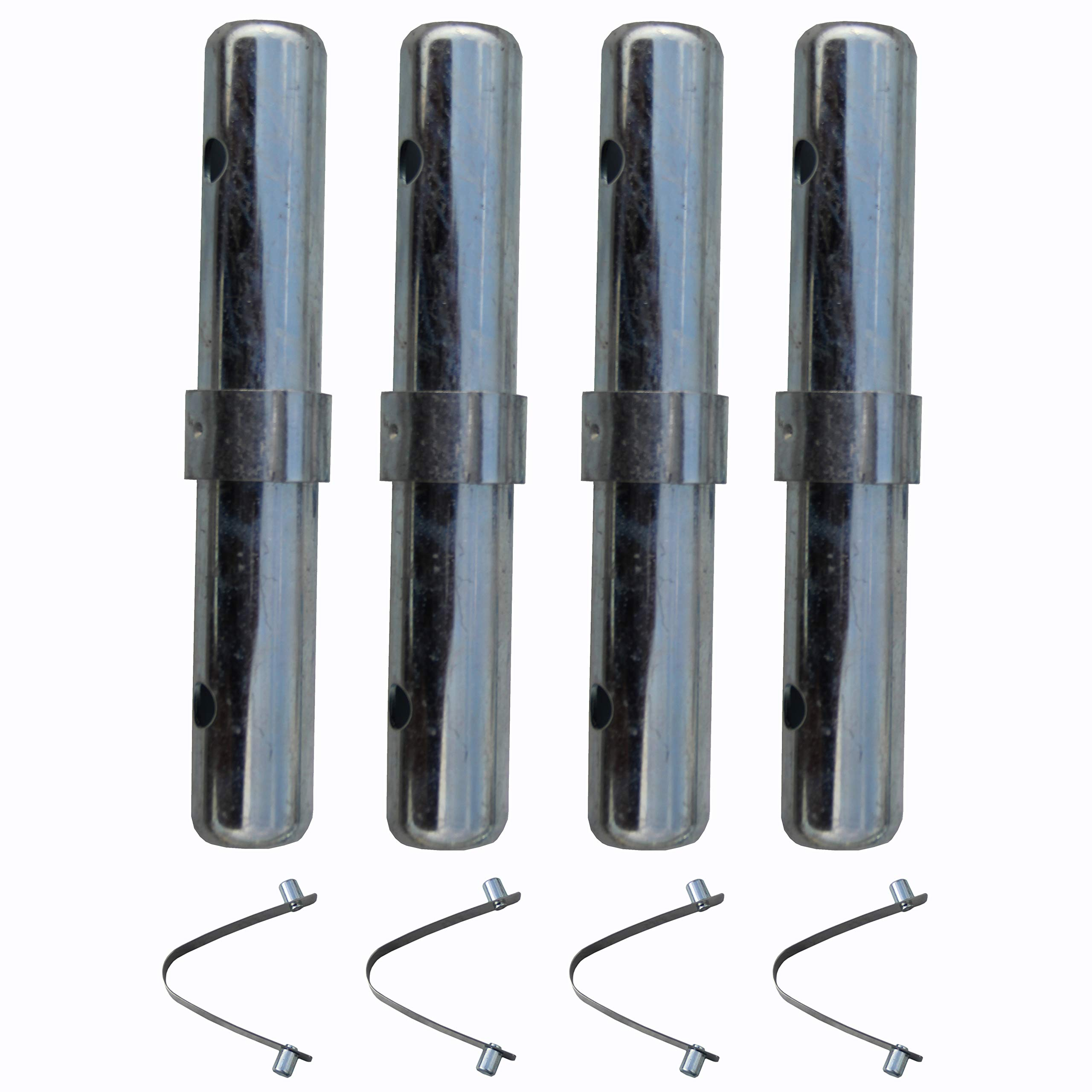 Scaffolding Coupling Pin with 1'' Collar with Spring Pin 4 Sets