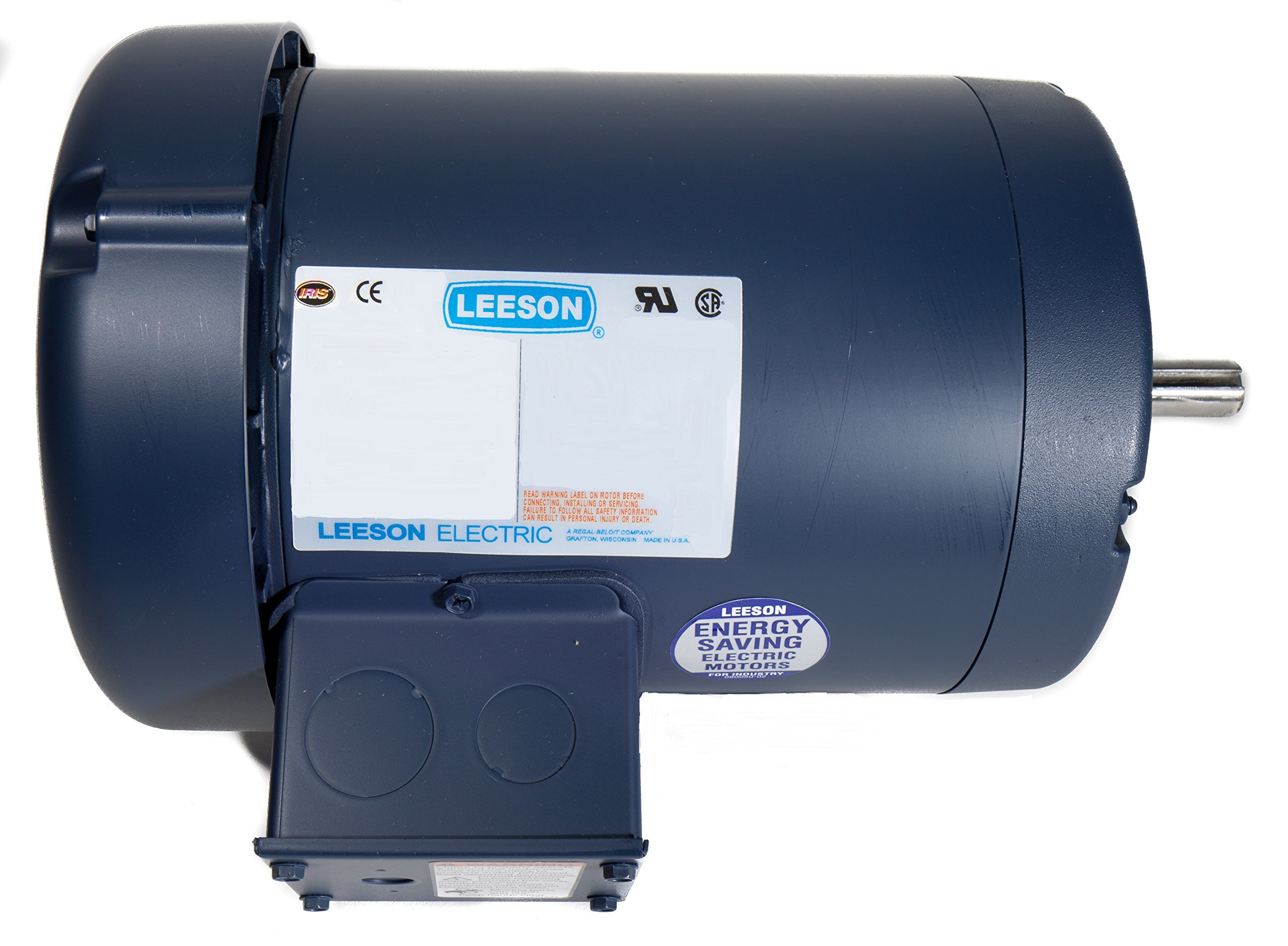 Leeson 121180.00 General Purpose C Face Motor, 3 Phase, 145TC Frame, Rigid Mounting, 1 1/2HP, 1800 RPM, 208-230/460V Voltage, 60/50Hz Fequency
