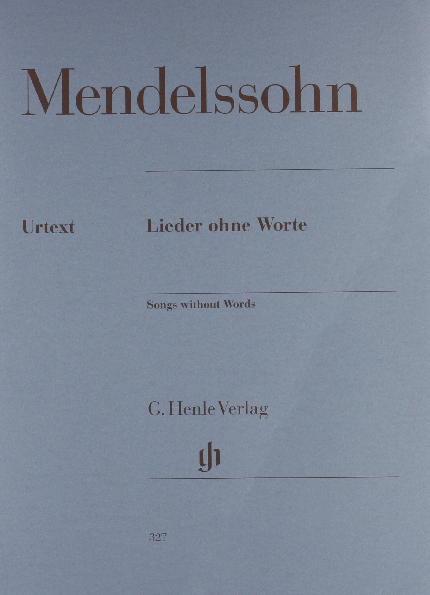 Songs Without Words Lieder Ohne Worte Paperback G. Henle Verlag B003AH394O 51480327