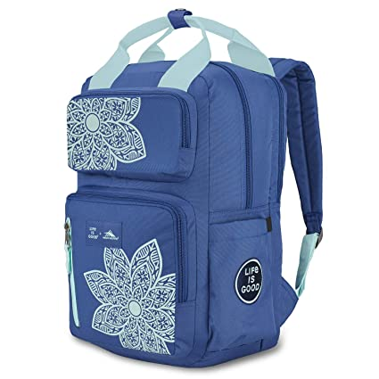 High Sierra Life is Good Mindie Backpack - Travel Laptop Backpack - Great  for School or Work, Vintage Blue/Bermuda Blue