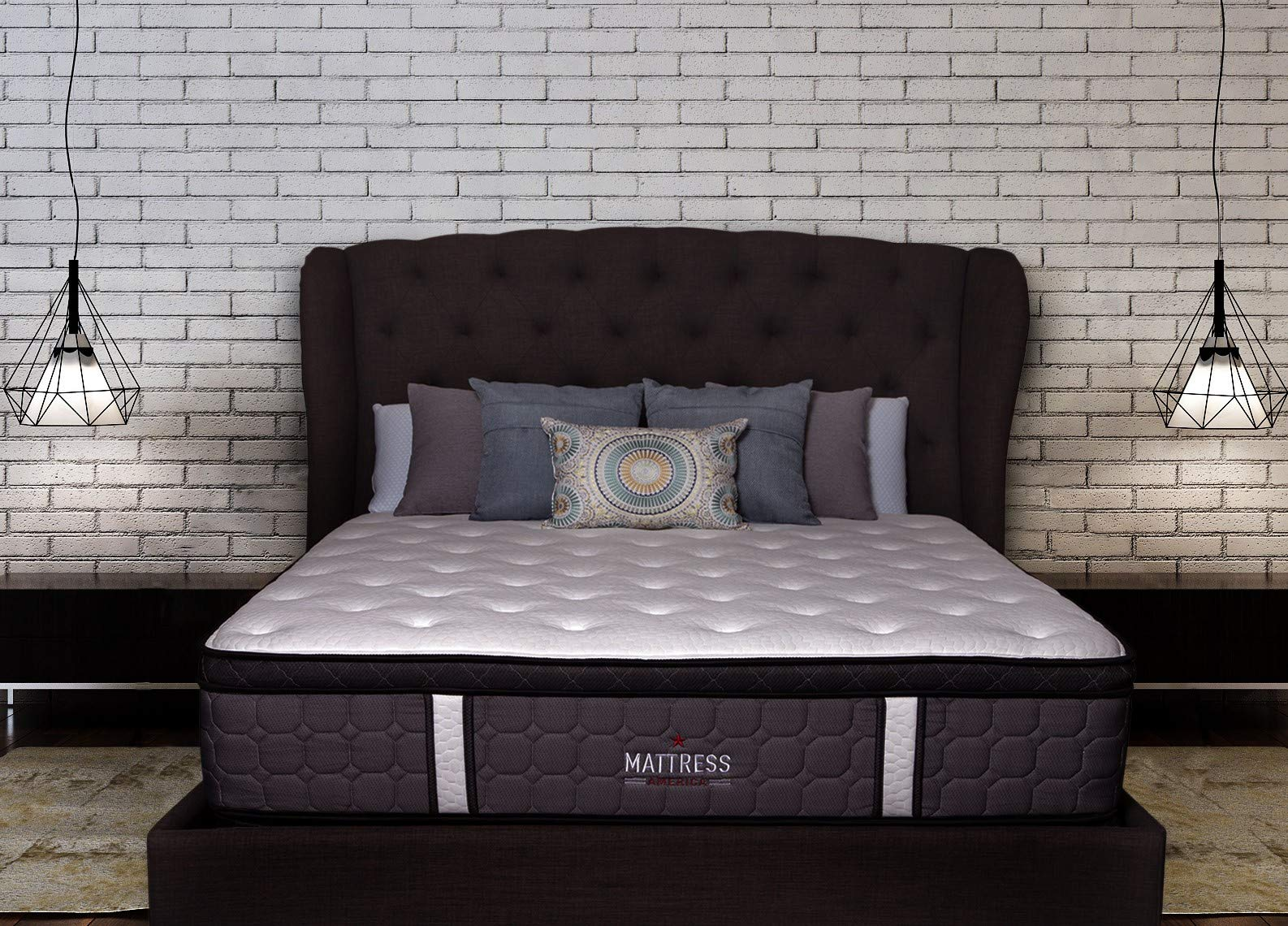 Mattress America Frost 13 Inch Hybrid Pocket Coil Pillow Top Mattress Gel Infused Memory Foam (Queen)