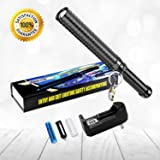 SAMLITE - High Powered LED Tactical Flashlight, Bright Handheld LED Rechargeable Flashlight, Water Resistant Torch with Adjustable Zoom, 18650 Battery and Charger Included for Indoor and Outdoor