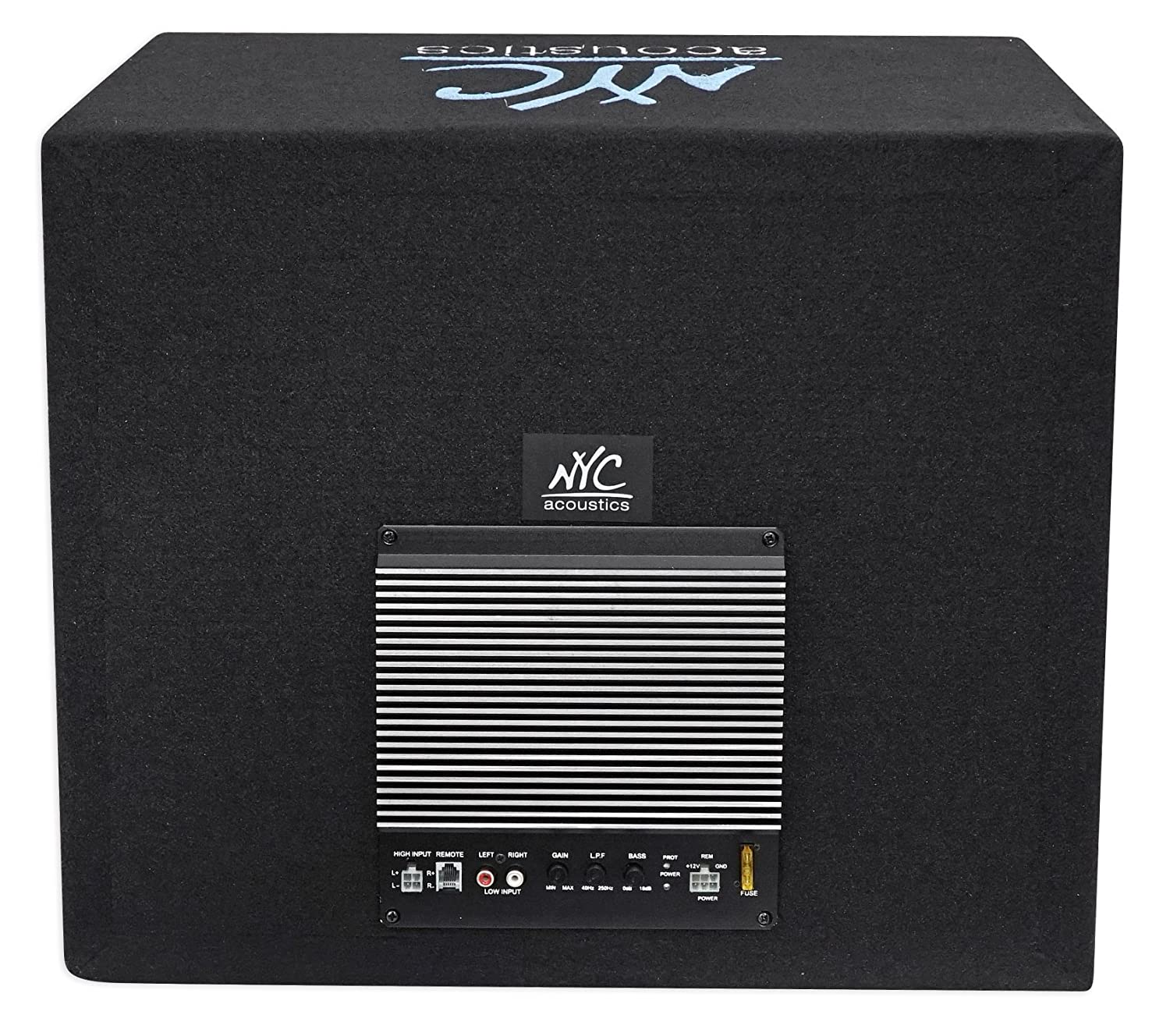Auto Parts  U0026 Accessories Nyc Acoustics Nse12l 12 1200w Powered  Amplified Car Subwoofer  Sub