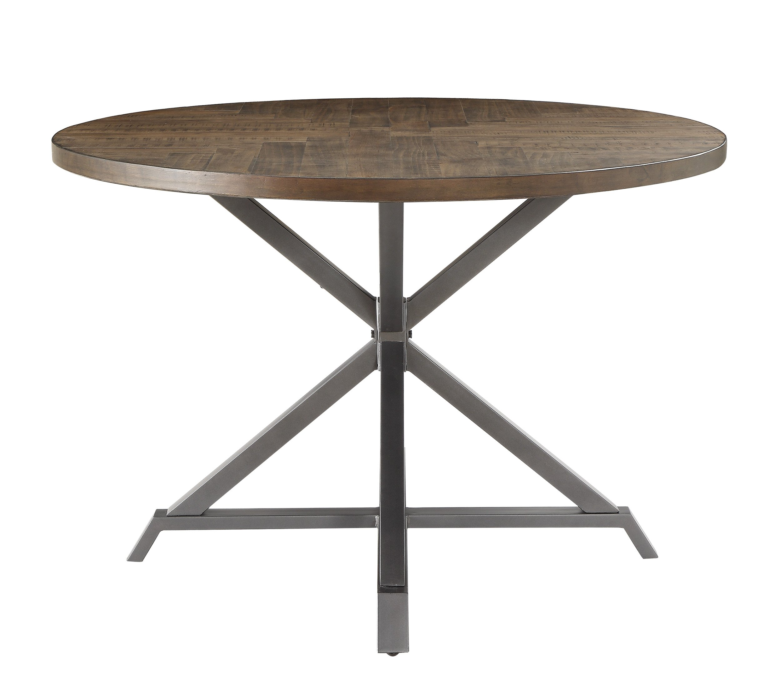 Homelegance Fideo 45'' Round Industrial Style Dining Table, Pine by Homelegance (Image #2)