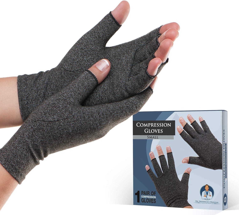 Guantes de artritis Dr. Frederick's Original - Calor y compresión para el alivio del dolor de la artritis reumatoide y la osteoartritis | 1 Par | Anti Artritis Guantes terapéuticos - Hombres y mujeres