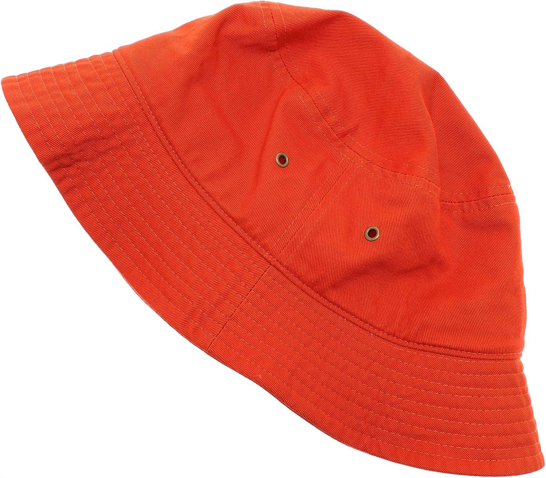 MIRMARU Summer 100/% Cotton Stone Washed Packable Outdoor Activities Fishing Bucket Hat.