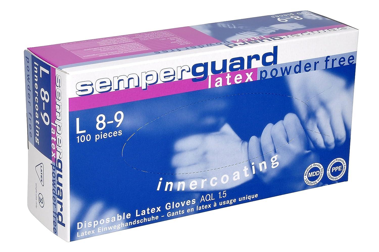 90 gants Par bo/Ã/®te distributrice SEMPERGUARD gants jetables en Latex sans poudre Taille XL 42-43