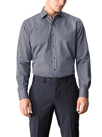 Walbusch Herren Hemd Bügelfrei-Hemd Minimal, Langarm Kent-Kragen, Regular  Fit, Kariert  Walbusch  Amazon.de  Bekleidung bb7340a508